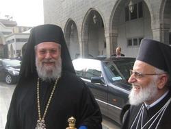 Archbishop Chrysostomos II and Patriarch Gregorios