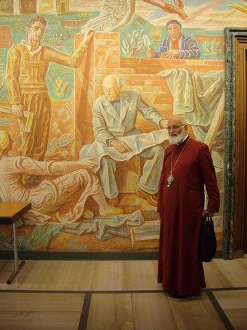 Patriarch Gregorios at ICMC Headquaters in Geneva, Switzerland