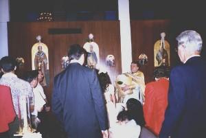 Prayer service over the oil