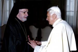 Pope Benedict greets Bishop Nicholas